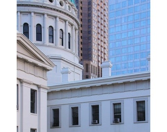 """Fine Art Color Photography of Saint Louis Architecture - """"Old and New - the Courthouse 1"""""""