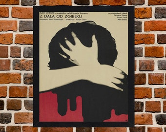 Framed Far from the Madding Crowd Polish Movie / Film Poster A3 Size Mounted In Black Or White Frame