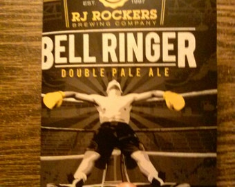 RJ Rockers Bell Ringer Upcycled Beer Cardboard Notebook