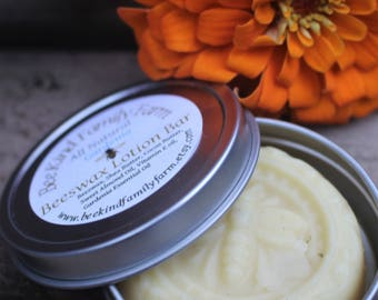Beeswax Lotion Bar all Natural Body butter Gardenia