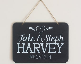 Marriage - Hand Lettered Chalkboard Sign