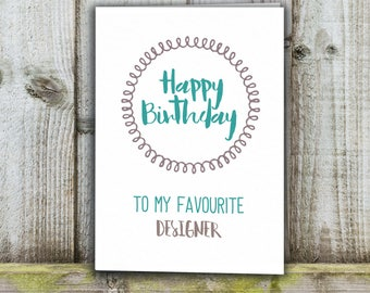 Card for designer etsy designer birthday card favourite designer funny card bookmarktalkfo Gallery