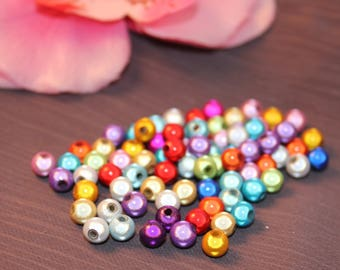 Lot 100 miracle beads / magic 6 mm mixed color