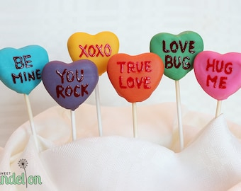 Sweetheart Cake Pops (Assorted Colors)