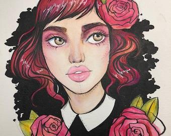 Ophelia - Original Illustration