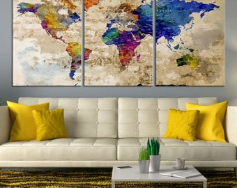 World map wall art world map canvas world map print world world map wall art world map canvas world map print world map poster gumiabroncs Image collections