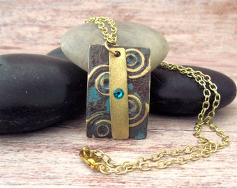 Gold Boho Necklace Turquoise Necklace for Women - Girlfriend Gifts Under 30 - Birthday Gift for Her - Gold Pendant Necklace - Everyday