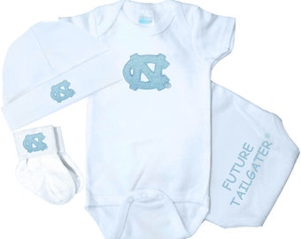 North Carolina Unc Tar Heels Baby Clothing Gift Set