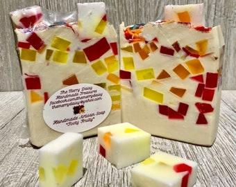 Handmade Cold Process Soap - Tooty Fruity Fragrance - Vegan