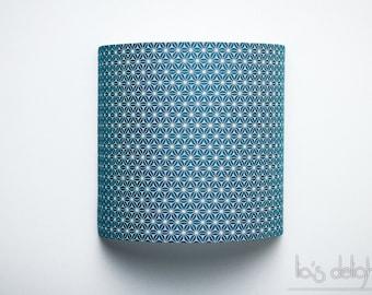 """Applique murale """"Blue Star"""", japonisant, géométrique, abat jour, abatjour"""