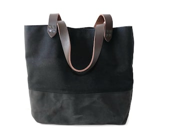 Basic Black Canvas Tote Bag