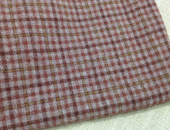Dusty Purple Check, Wool Fabric for Rug Hooking and Applique, Select-a-Size, W103, Purple Check, Muted Purple Wool Fabric