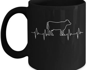 Cow Lovers Heartbeat Beautiful Gift For Farmers