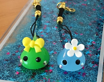 Hoppe chan key ring charm Flower loop
