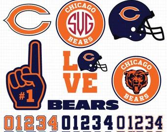 chicago bears logo etsy rh etsy com chicago bears logo vector image Chicago Bears Logo SVG