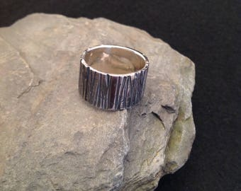Silver ring 935er with blackened surface