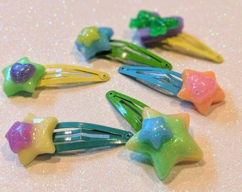 Bright colored Hairclips