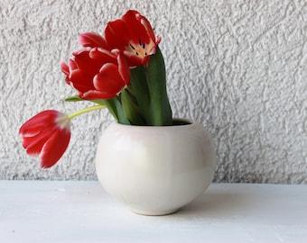 Pottery flower vase Ceramic vase Bud vase