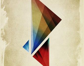 Triangularity Digital Art Poster - signed museum quality giclée fine art print