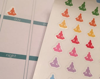 70 SMALL Yoga Pilates Fitness Gym Workout Stickers for Erin Condren Life Planner (ECLP) Reminder Sticker LDD1037