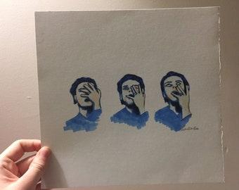Gerard Way Faces Drawing