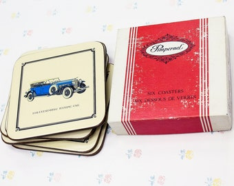 Classic Cars Pimpernel Coasters Set, Car Lover Gift For Grandpa, Man Cave  Decor Drink Coasters, Vintage Barware Coasters, Car Gifts For Him