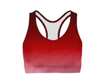 Crimson Triangles Sports Bra