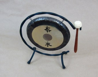 """Paiste Deco Gong 7"""" with Stand and Original Box, 1960s Vintage, Germany"""