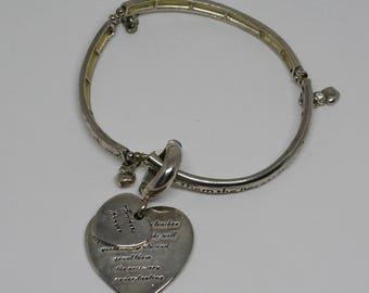 Charming Christian Silver Tone Charm Bracelet