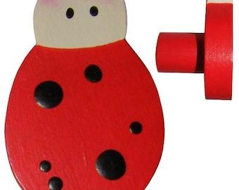 Ladybug Drawer Knob - Ladybird Drawer Pull