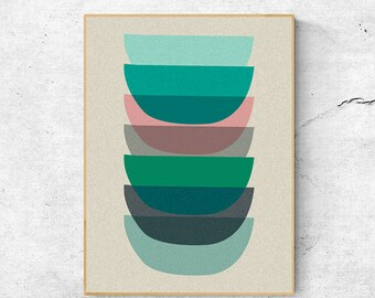 Wall art prints, Geometric print, Scandinavian modern art, Scandinavian print, Digital download art, Geometric wall art, Abstract art print