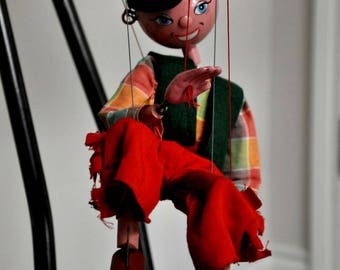 Pelham Puppet, Pelham Boy Puppet, Marionette, 1960s, Retro Puppet, Vintage Pelham Puppet, Collectible Wooden Puppet, Retro Puppet Toy, Boy