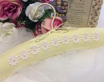 Girls Dress Hanger, Padded Dress Hanger, Baby Gift, Childs Dress Hanger, Flower Girl Dress Hanger, Childrens Padded Hanger
