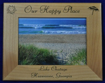 Vacation Frame ~ Vacation Gift ~ Picture Frame ~ Engraved Family Gift ~ Engraved Frame ~ Personalized Frame ~ Lake Gift ~ Gift For Parents ~