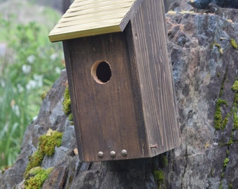 Decorative Bluebird Birdhouse with Bronze roof. (30)
