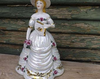 """Porcelain Southern Bell Music Box """"Für Elise"""" by Beethoven Melody"""