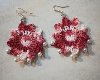 Crochet Floral Earrings