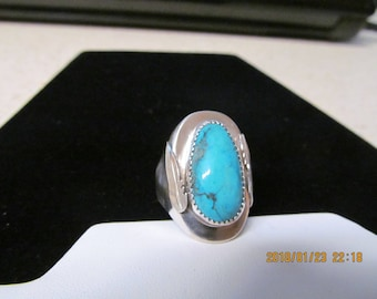 Handcrafted silver turquoise