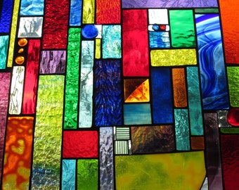 Stained glass Window 60 pieces for a 60th Birthday gift