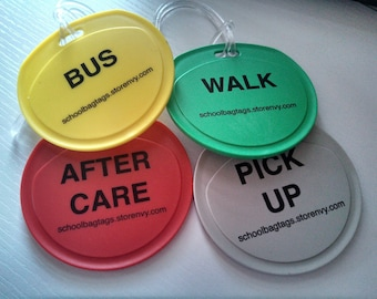 School Bag Tags!  Help your little one remember where to go after school!
