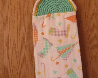 Spring Towel with Umbrellas and Boots