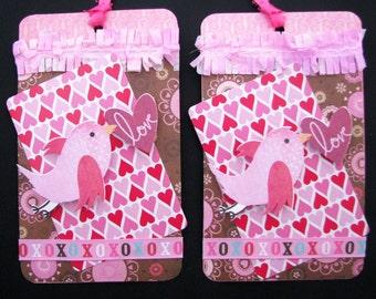 Love Bird Valentine Tags