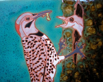 Scintillement alimentation-CUSTOM commander - permettre 4-6 semaines de production temps-tuile dans les arts et l'artisanat style parfait pour n'importe quel birdlover