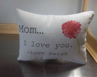 Personalized mom pillow best mom gift name pillow mom gift throw pillow mother gift mama love quote custom cushion cotton canvas pillows