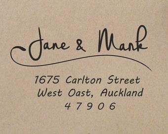 Return Address Stamp   Wedding Calligraphy  Stamp Wedding Stamp Self Inking