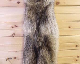 Wolf Pelt - Tanned Fur - Free Shipping