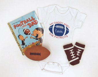 New England Patriots / Football / Baby Bodysuit / Sports Team / Patriots Baby / Baby Clothes / Game Day / NFL / Football With Daddy