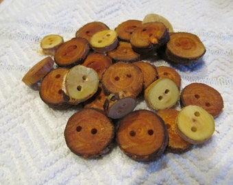 Tree branch buttons willow and birch mixed bag
