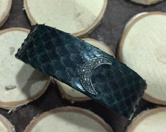 Moon Diamond Python Cuff