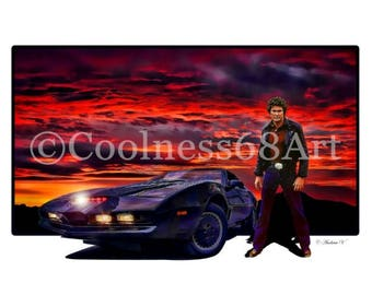 Knight Rider 3D Style Original Art Print
